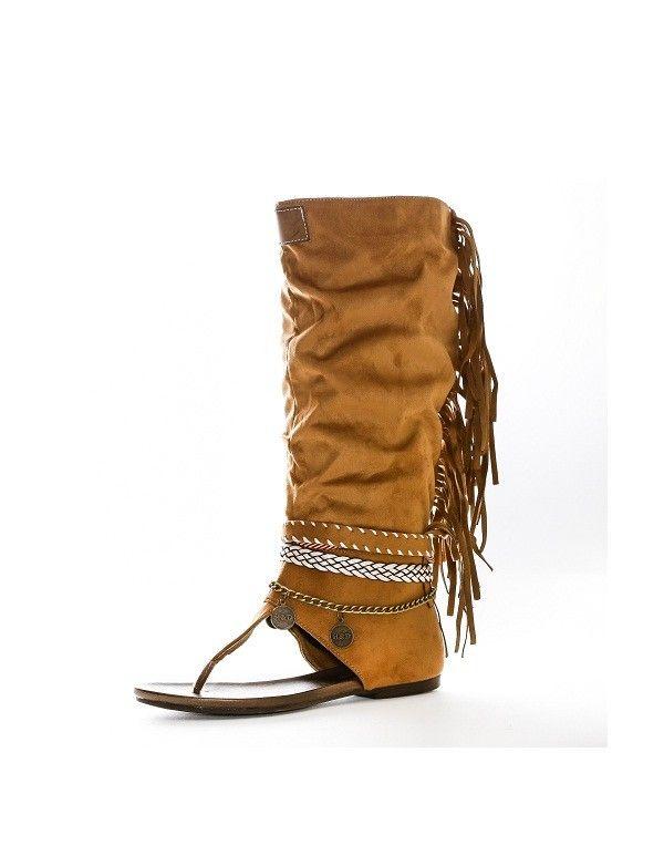 6018dcea44a Bota Sandalia Camel | Zapatos | Zapatos primavera, Sandalias con ...