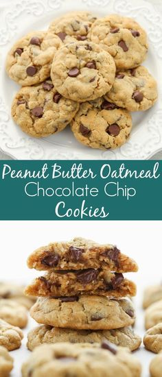 Delicious oatmeal cookies cookies that are incredibly easy to make. These Peanut Butter Oatmeal Chocolate Chip Cookies are super soft chewy thick and bake up perfectly every time. There is even no dough chilling required!  Delicious oatmeal cookies cookies that are incredibly easy to make. These Peanut Butter Oatmeal Chocolate Chip Cookies are super soft chewy thick and bake up perfectly every time. There is even no dough chilling r
