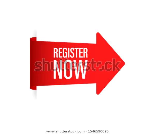 Red Register Now Sticker On White Stock Vector Royalty Free 1546590020 Vector White Stock Image Royalty Free