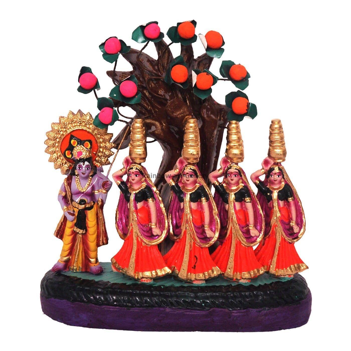 Kondapalli toys images  Krishna Dance with Gopis