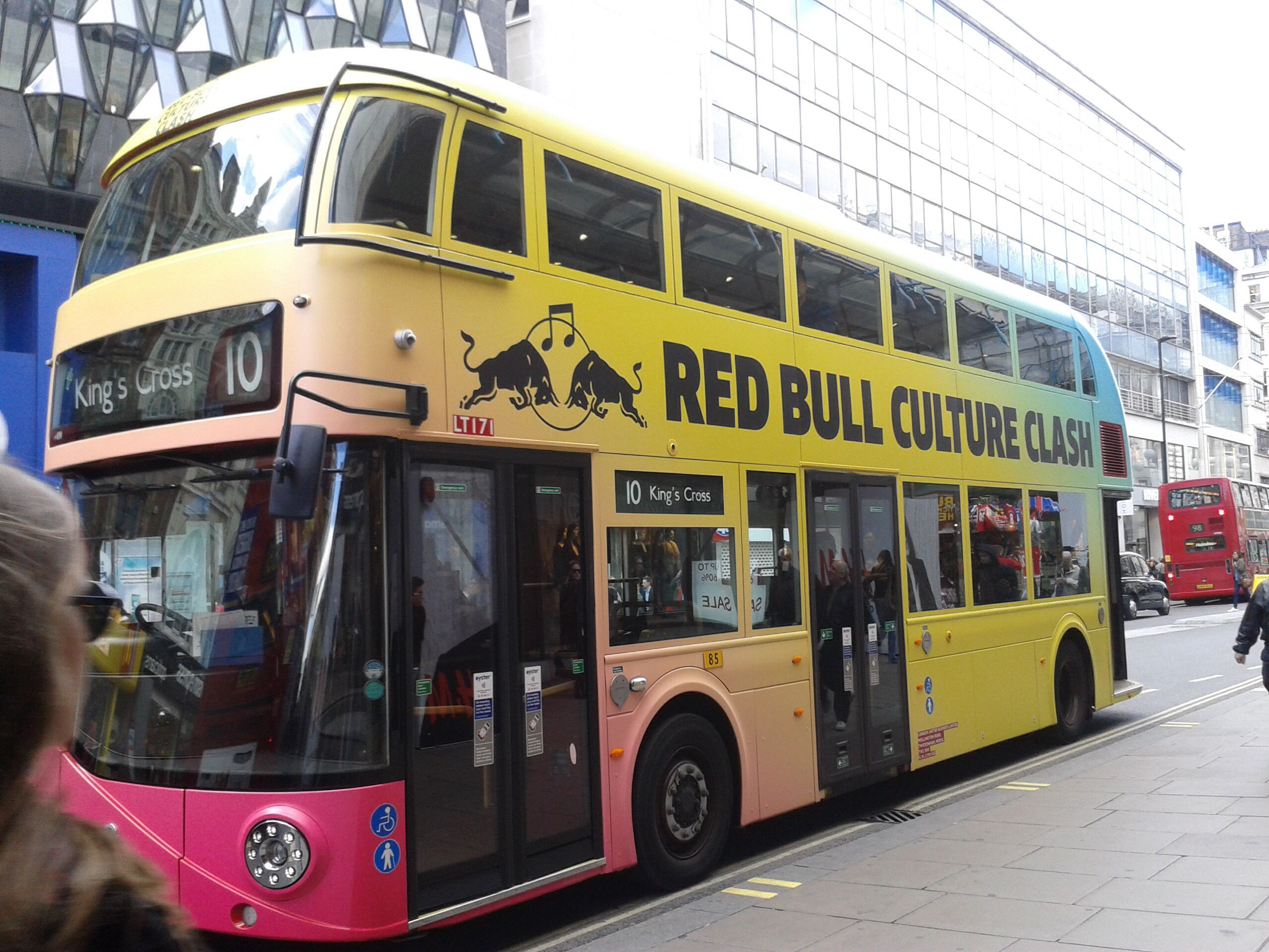 Red Bull advertising on London's bus