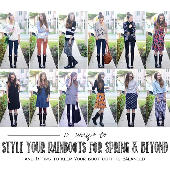 Rain boots don't just have to be for rainy days! 12 Ways to Style Them for Spring and Beyond!