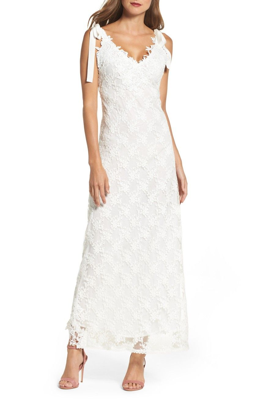 Mother of the bride wedding dresses nordstrom  Foxiedox August Shoulder Tie Lace Maxi Dress  Nordstrom  Dress