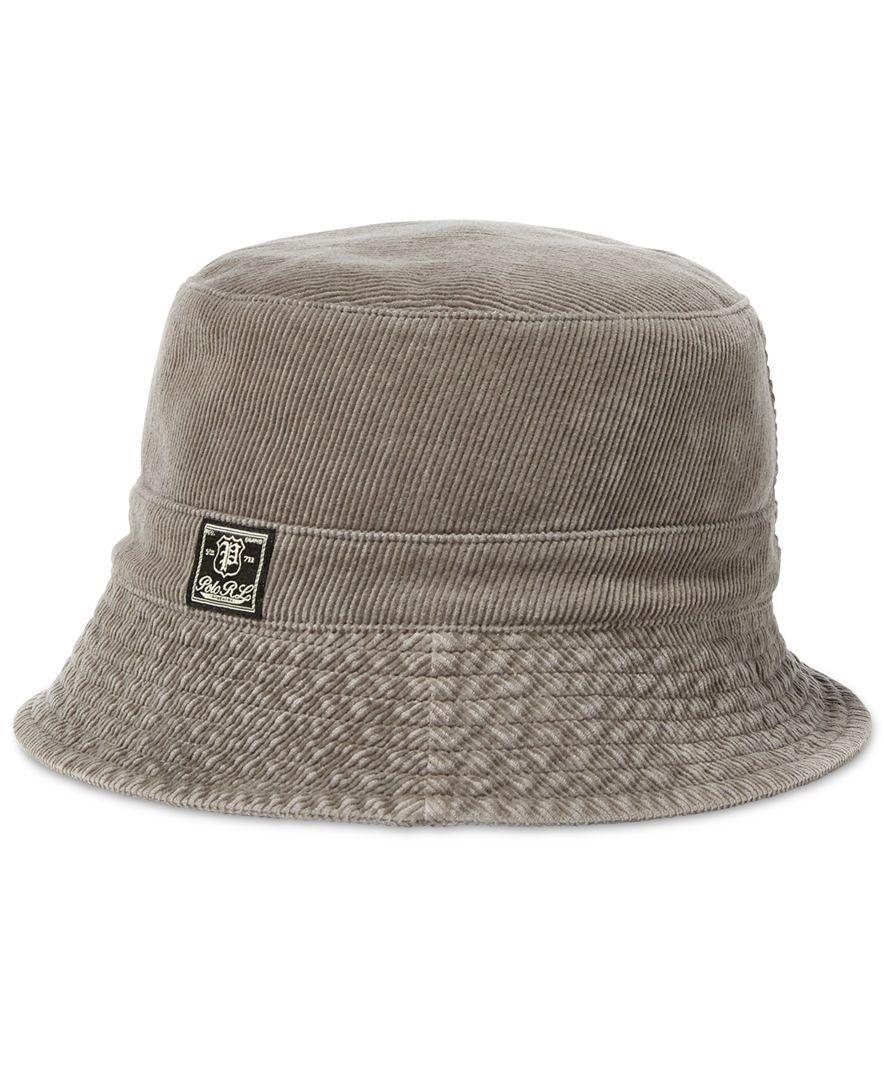 a5a0b3ae4cb Polo Ralph Lauren Men s Corduroy Bucket Hat