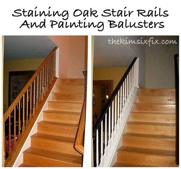 Staining And Painting An Oak Banister (Flashback Friday