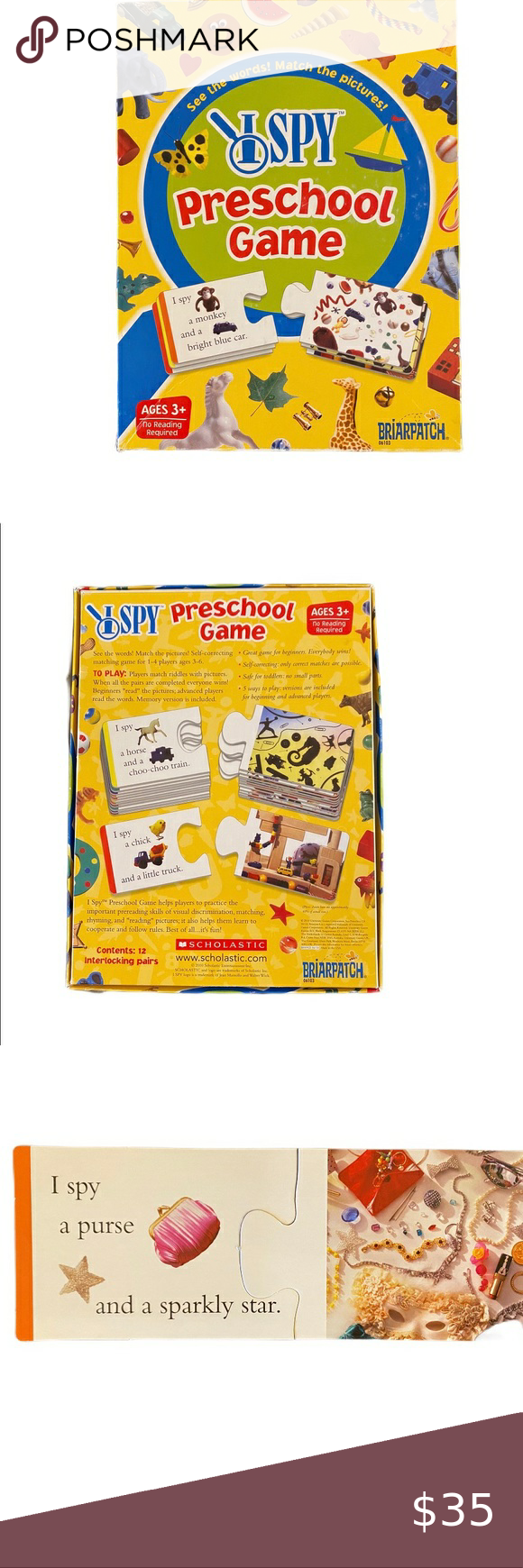 I SPY Preschool Game in 2020 Preschool games, Rhyming