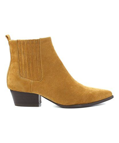 CherryMad Aria-8 Wine Mustard Cowgirl Ankle Booties Suede