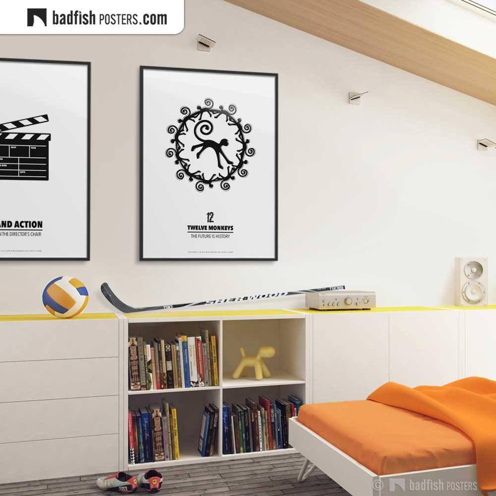 Twelve Monkeys Print, Alternative Movie Poster, Monkeys