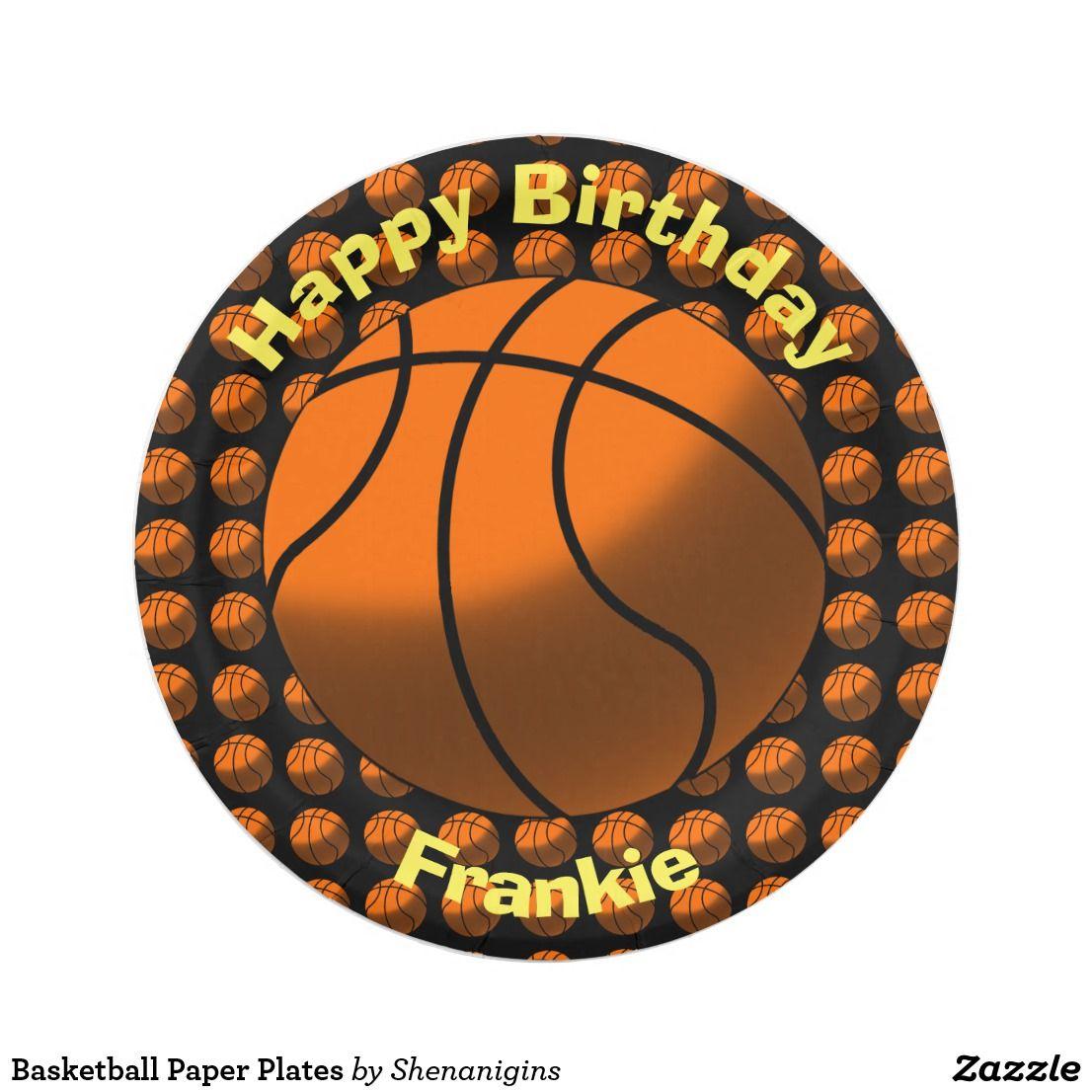 Basketball Paper Plates  sc 1 st  Pinterest & Basketball Paper Plates | Cool Paper Plates and Paper Cups for all ...