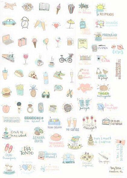 Stickers For Your Planner Pegatinas Para Tu Agenda Sticker Diy