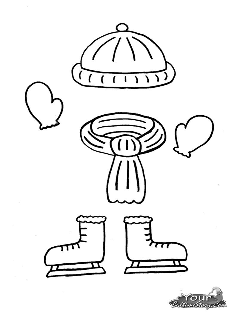 Awesome Winter Clothes Coloring Pages Free For You