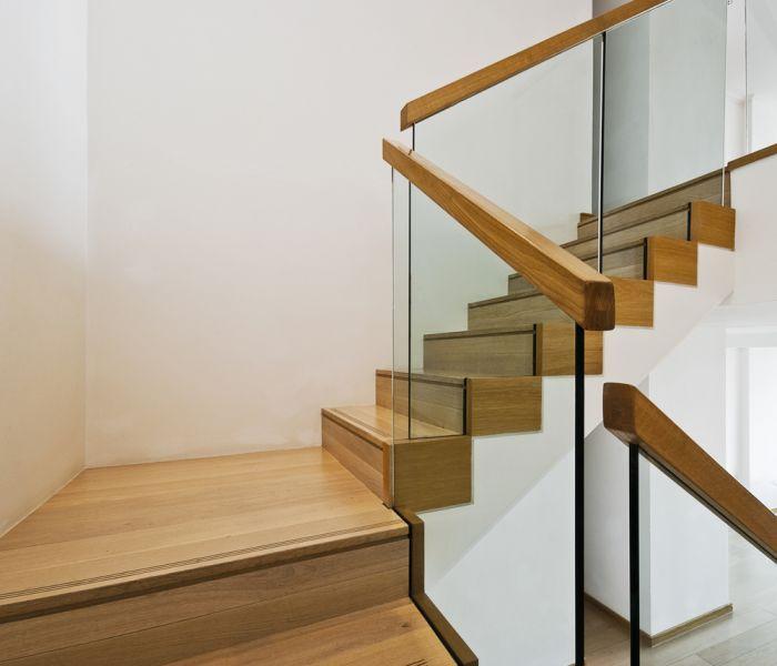 Escaleras de cristal y madera buscar con google for Escalera madera decoracion