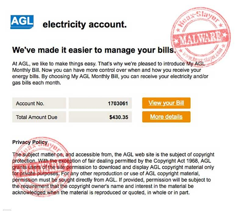 Bogus AGL Electricity Bill Email Points To Torrentlocker Ransomware ...