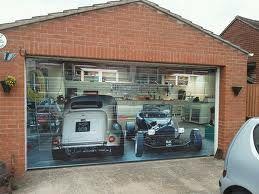 Garage Door Wrap Hot Rods Killer Garages Pinterest
