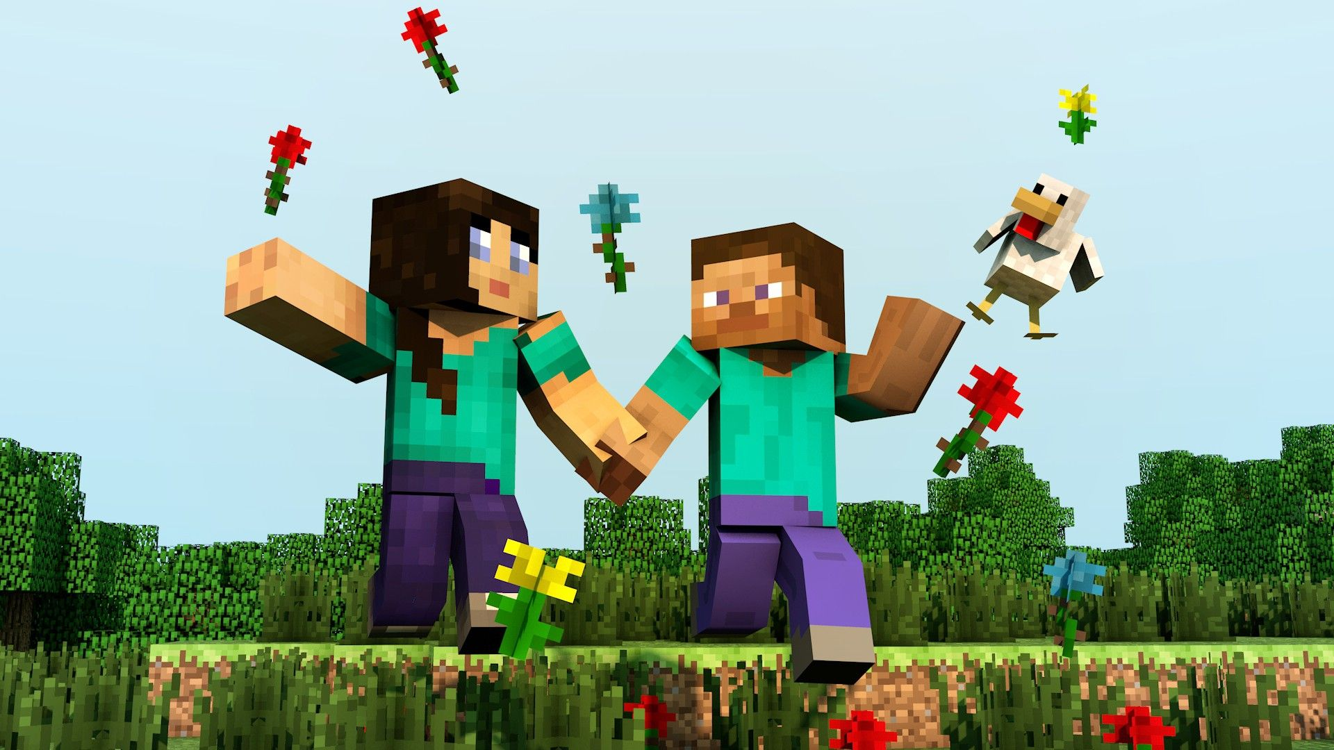 Minecraft Wallpaper Minecraft Steve Wallpaper 1920x1080 Minecraft Steve Stevette Girl Minecraft Games Minecraft How To Play Minecraft