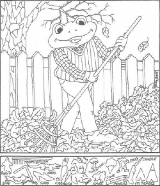 Hidden Pictures Coloring Sheets | Hidden pictures and School