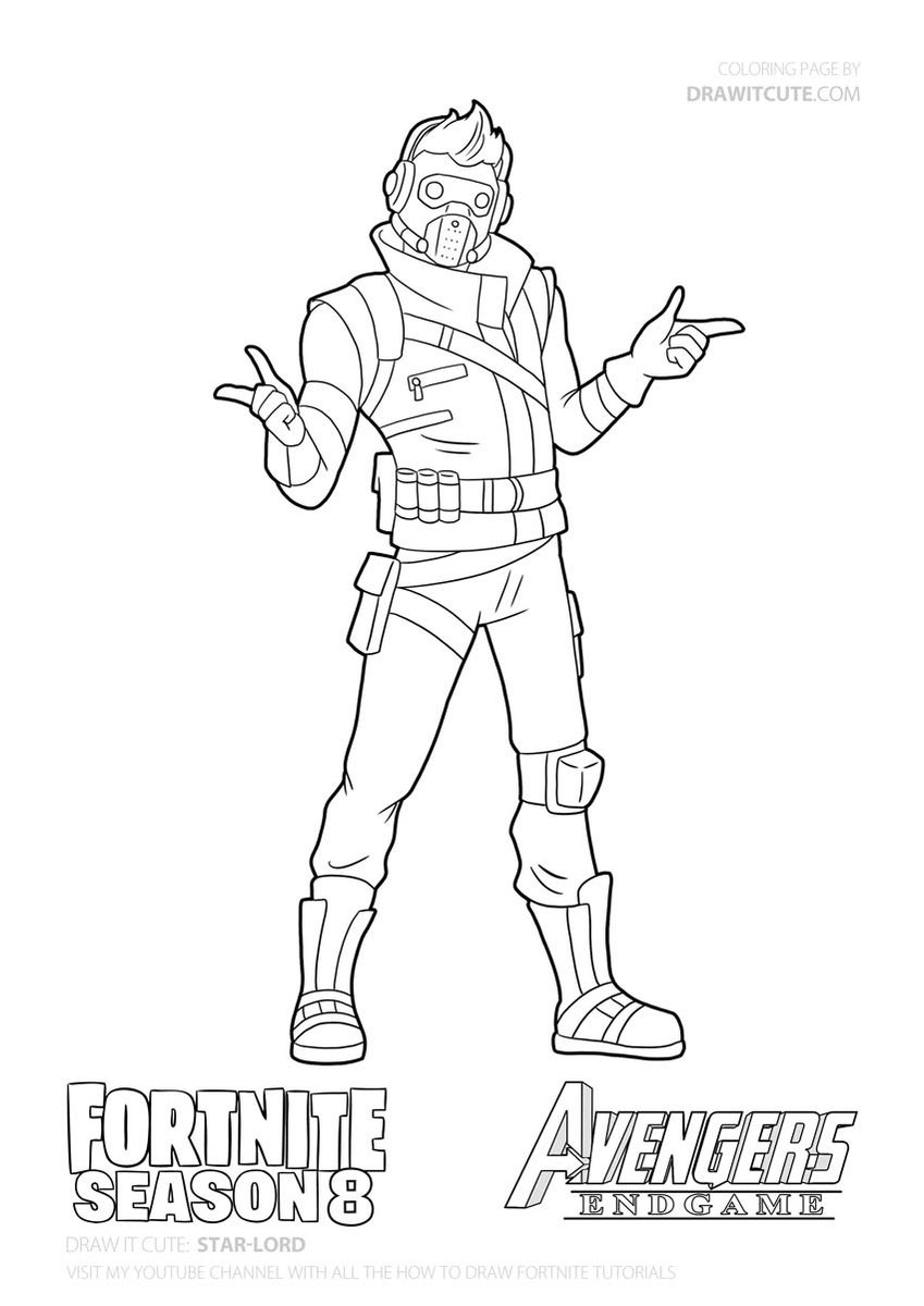 Star Lord Fortnite Fortnitebattleroyale Drawitcute Howtodraw Coloringpages Fanart Wallpaper Desk Free Coloring Pages Coloring Pages Cute Coloring Pages