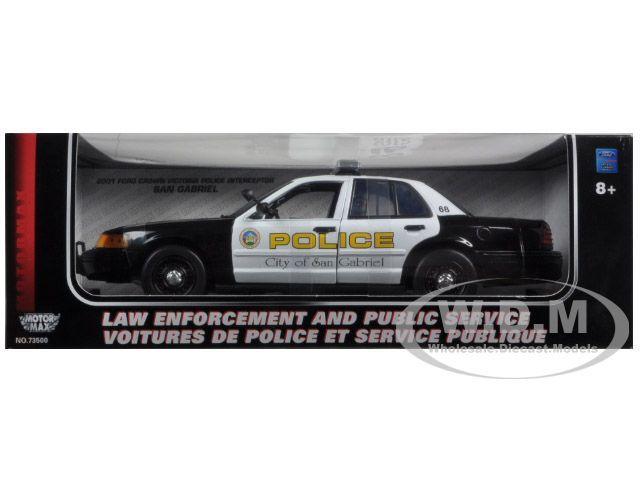 2001 Ford Crown Victoria San Gabriel Police Interceptor 1/18 Diecast Car Model Motormax 73538  sc 1 st  Pinterest & 2013 Ford Police Interceptor Unmarked Black Police Car 1/24 ... markmcfarlin.com