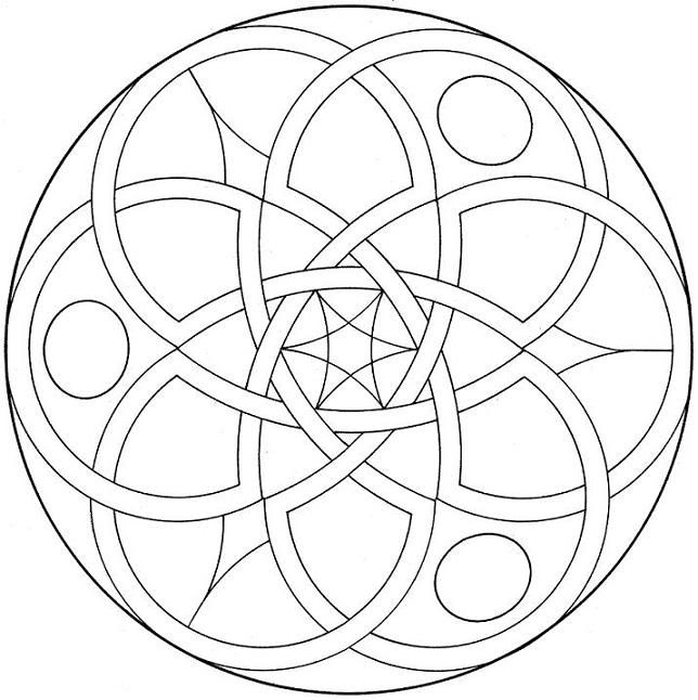 free geometric coloring pages showing symmetrical shapes design - Coloring Pages Designs Shapes