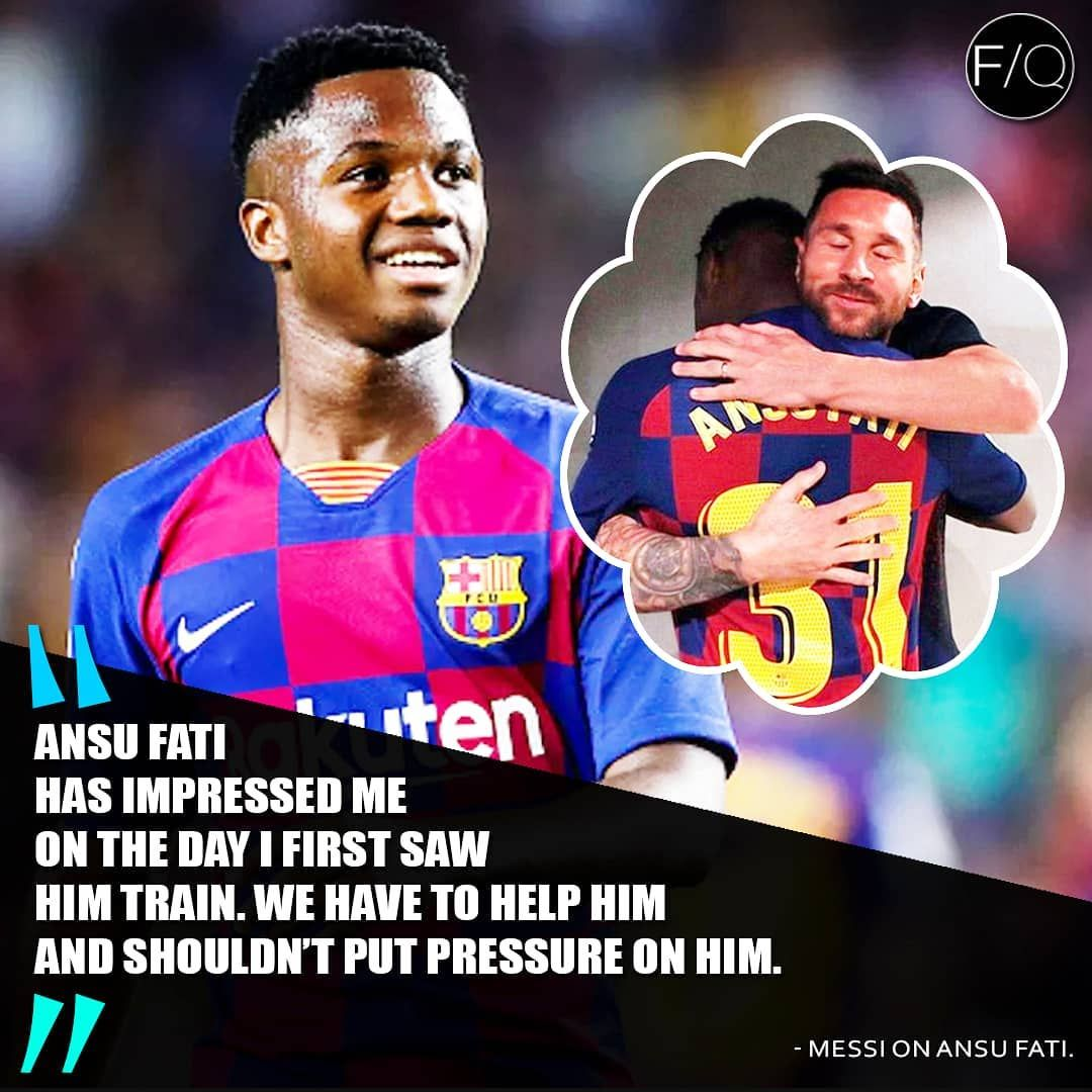 Ansufati Could Become Fcbarcelona S Next Superstar What You Think Follow Football Quotes For More We Appre Messi Superstar Baseball Cards