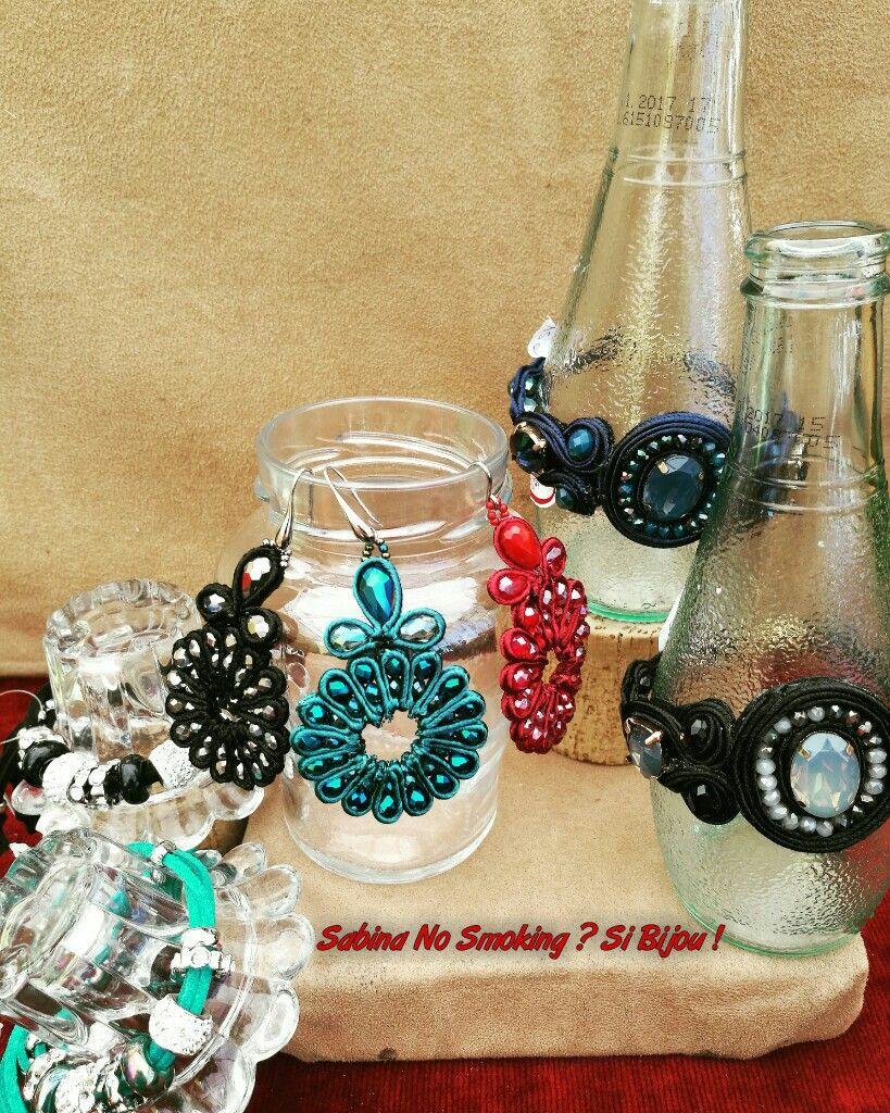 Orecchini con pietre e bracciali #sabbinadasabina  Vetrina #sabinanosmokingsibijou
