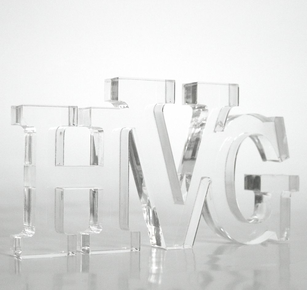 HappyValleyGoods.com Lucite Acrylic letters. Lucite Monogram.