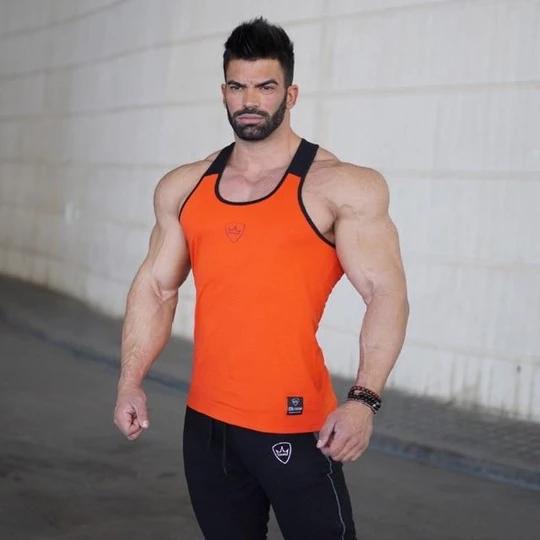 Sommer Tank Top Männer Bodybuilding Bekleidung und Fitness Herren Ärmelloses Shirt fitnessheavengifs...