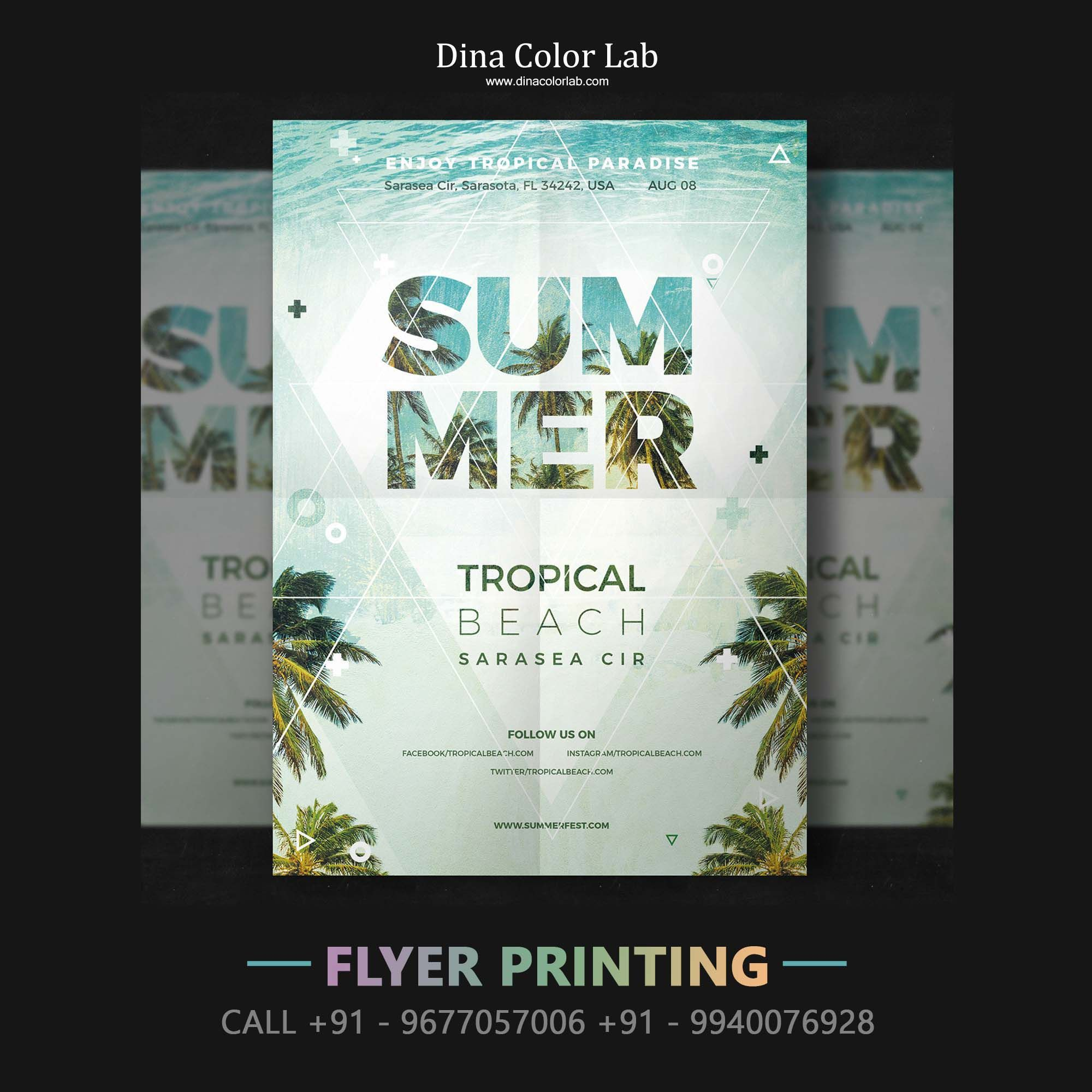 Professional Printing Company Provide Quality Flyer