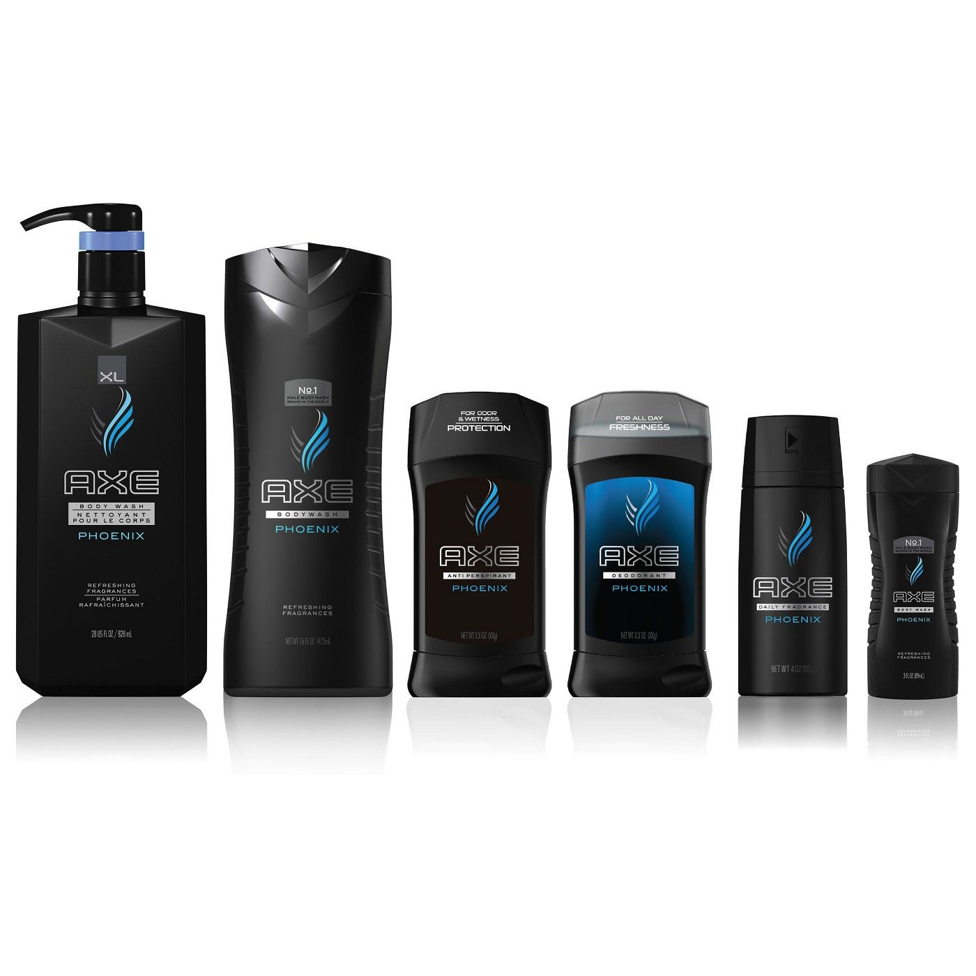 Axe Phoenix Clean Cool Crushed Mint Rosemary Scent Body Wash Soap 16 Fl Oz Body Wash Shower Gel Axe Body Wash