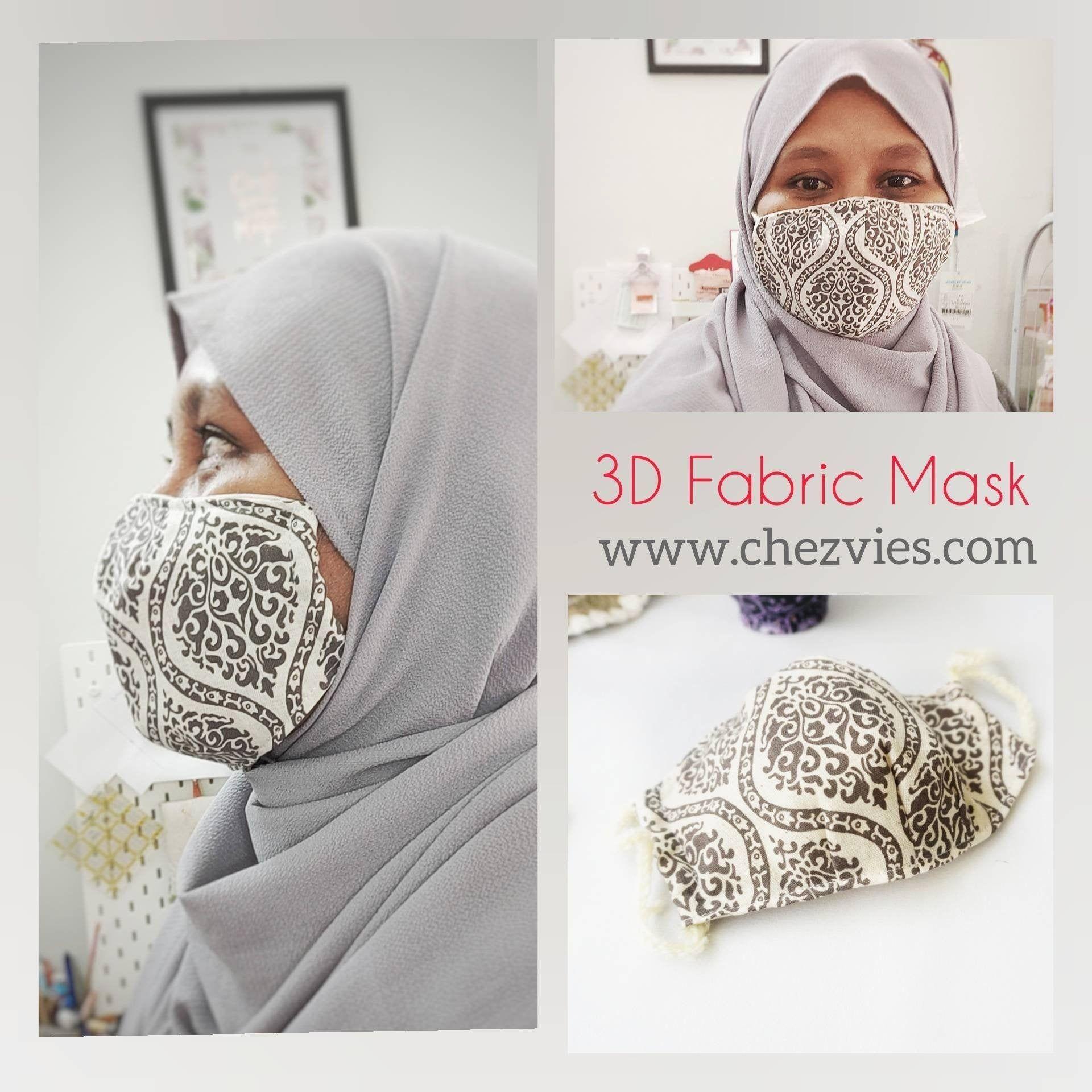 PdfMuster 3dStoff Gesicht Maske mit filter Tasche... Ust