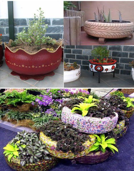 Decoraci n de terrazas y jardines con neum ticos usados for Decoracion con neumaticos