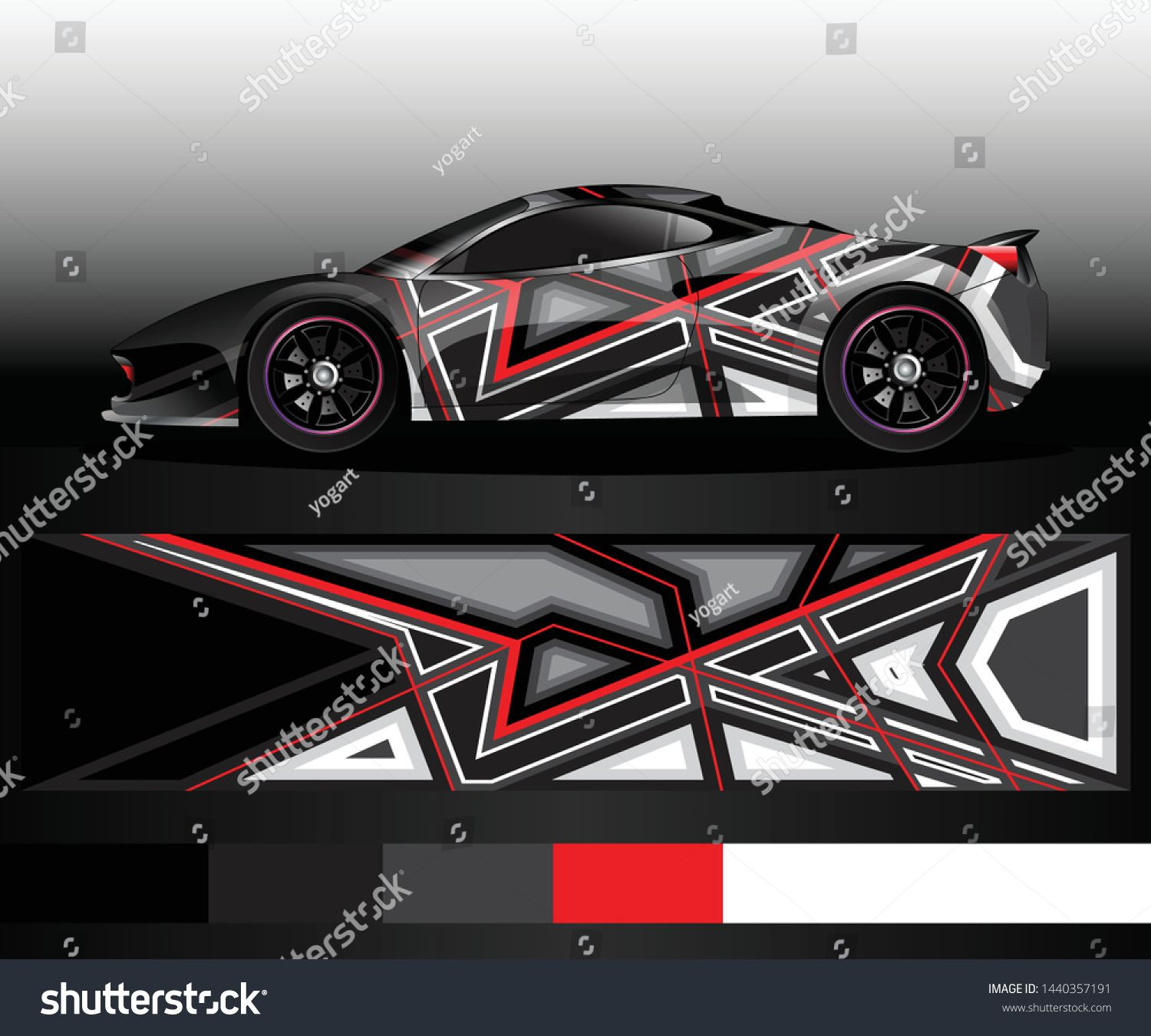 Sport Car Decal Graphic Wrap Vector Abstract Background Car Decals Car Graphics Car Design