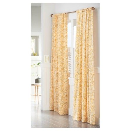 Panel curtains · floral paisley window panel yellow threshold target