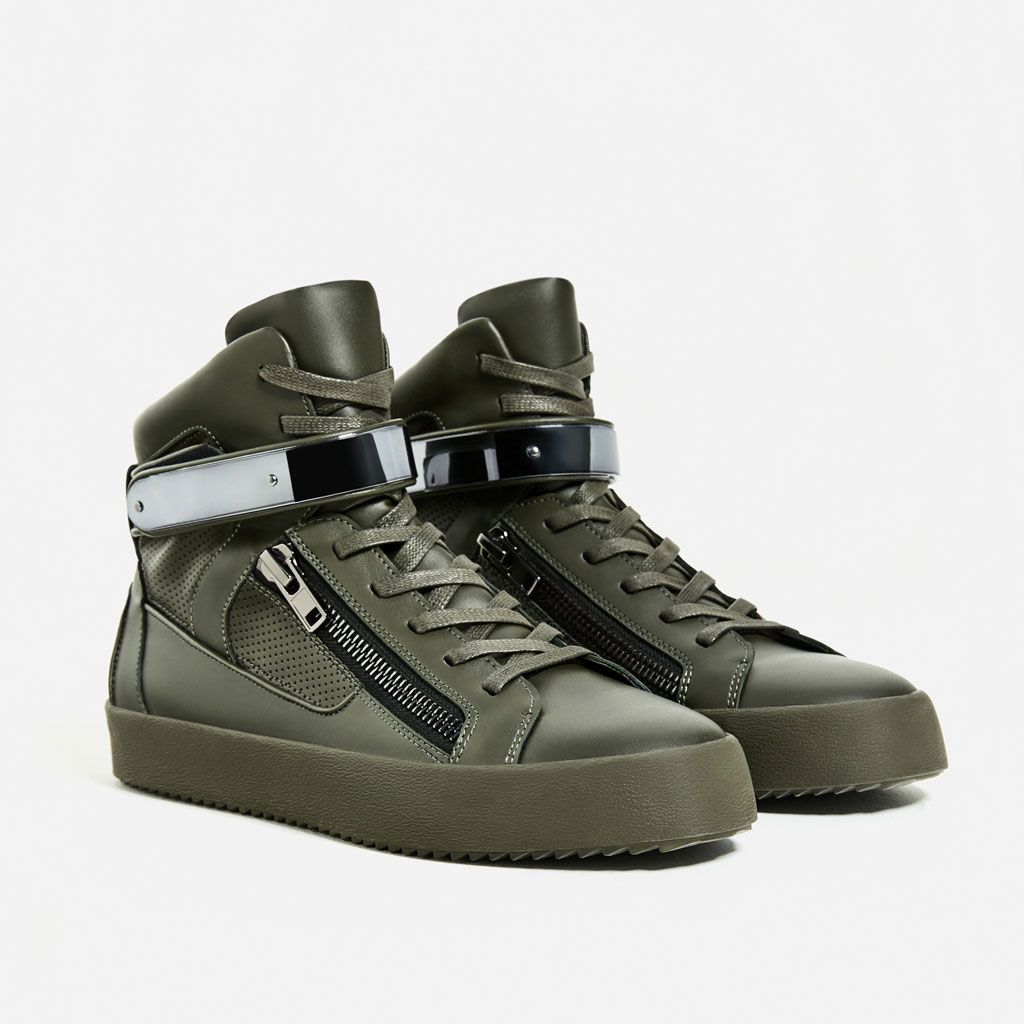 Image 2 of HIGH TOP SNEAKERS WITH ZIP from Zara  ce52414d420