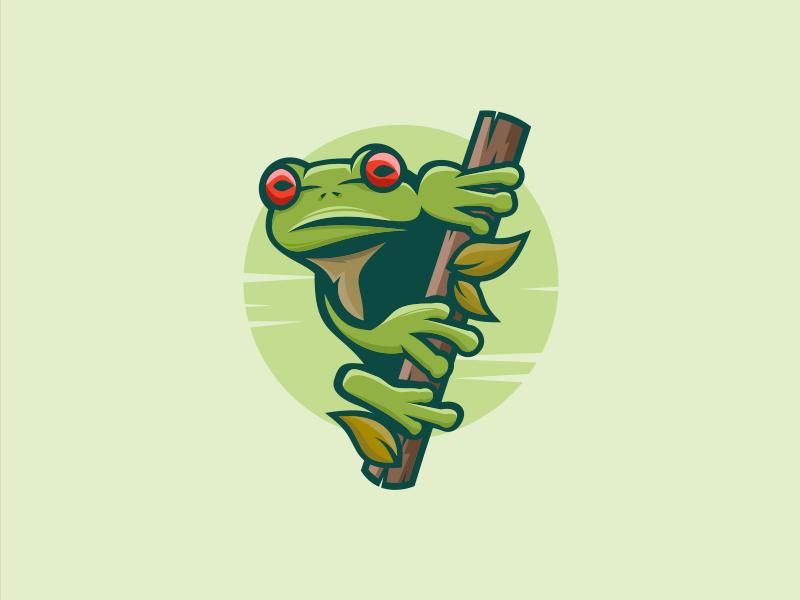 Frog Frog Nemplok Cartoon Logo Frog Design Frog Logo