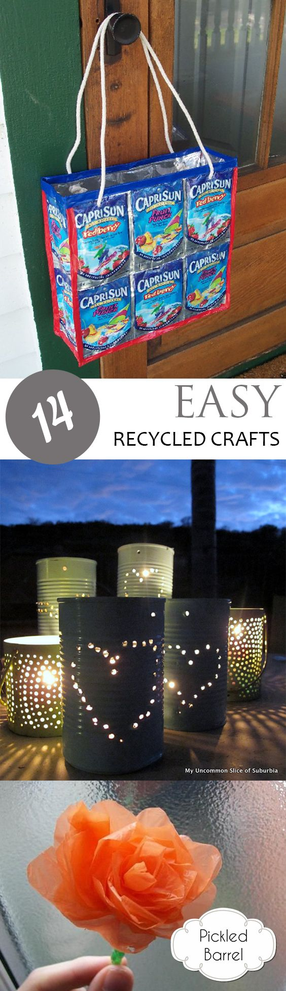 14 Easy Recycled Crafts - Easy recycled crafts, Recycling for kids, Recycled crafts, Recycled crafts kids, Recycling projects for kids, Recycled art projects - Recycled craft projects for the home