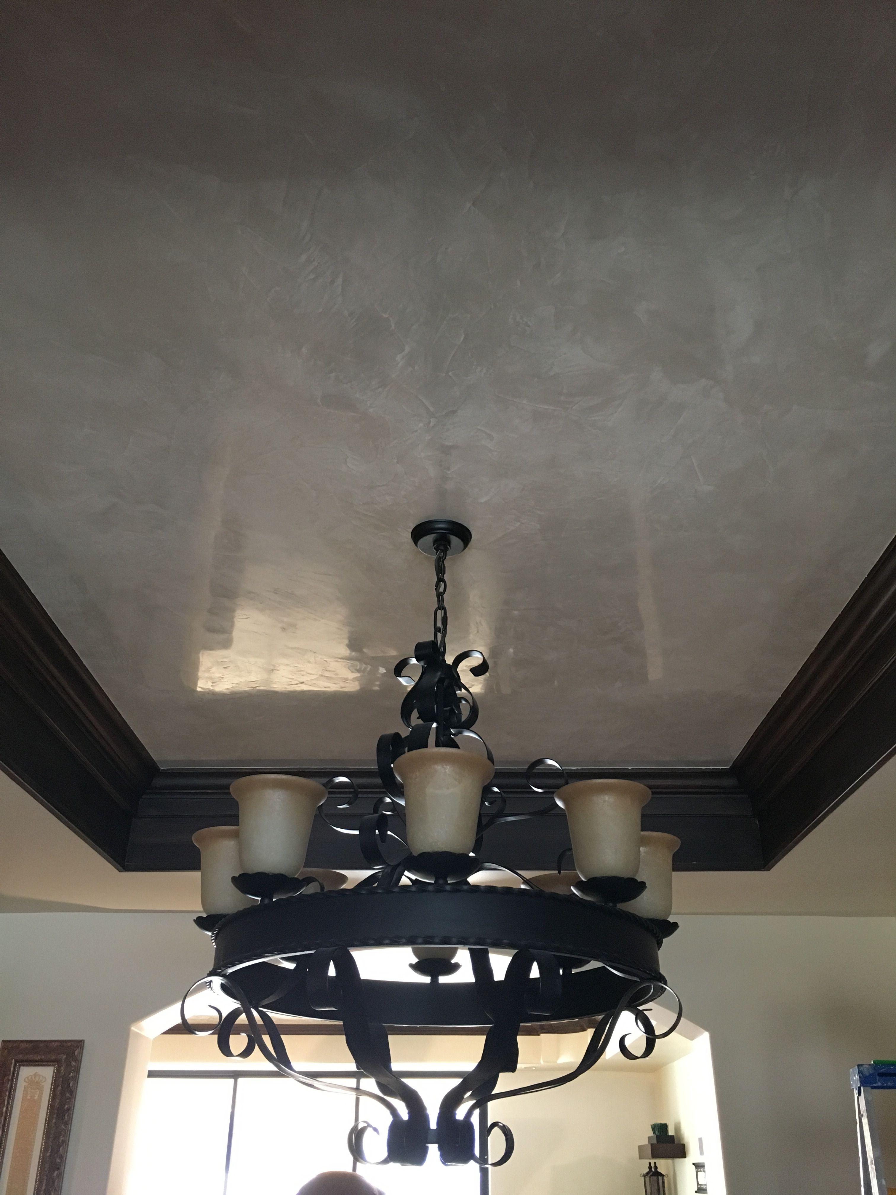 Venetian plaster on the ceiling | Venetian plaster, Living ...