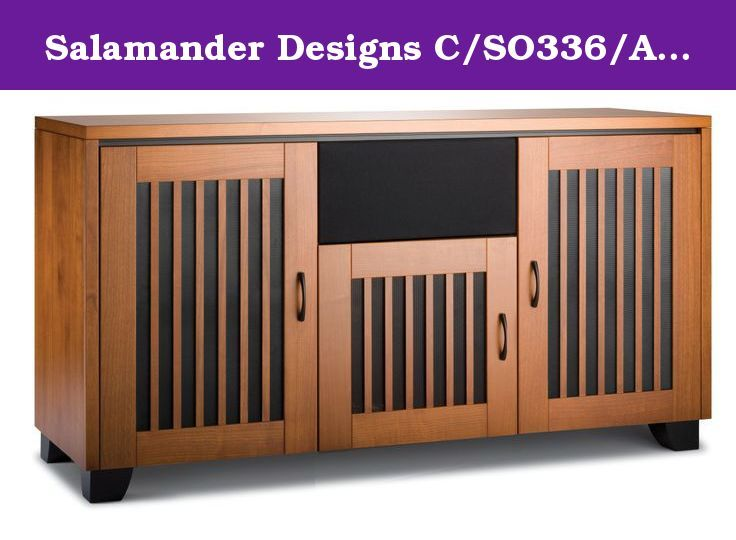 Salamander Designs C/SO336/AC Chameleon Sonoma TV Cabinet (American Cherry). Sonoma, a mission-influenced style, has doors that contrast vertical wooden strips with black, micro-perforated metal inserts. Its American Cherry tone and relaxed look work especially well in transitional rooms.