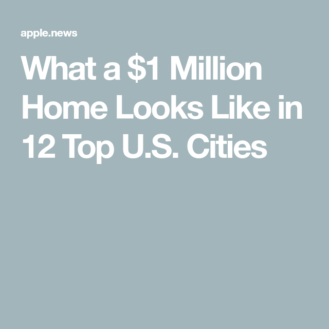 What A 1 Million Home Looks Like In 12 Top U S Cities Hgtv Home Look City Hgtv