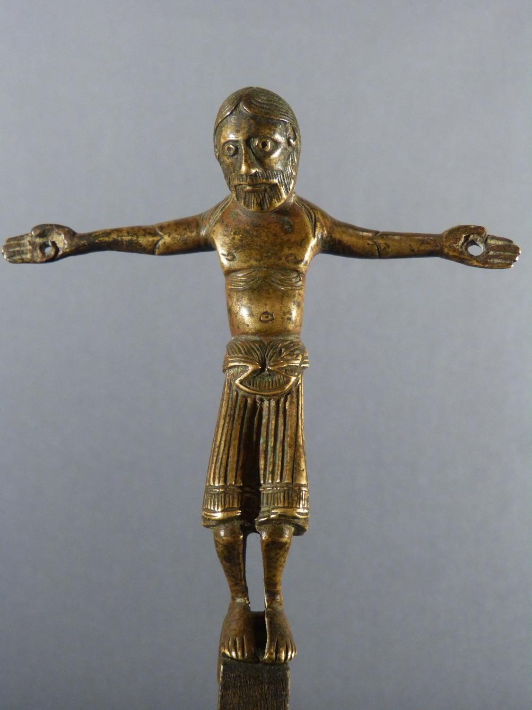 Antique Middle Ages Romanesque Crucifix Christ
