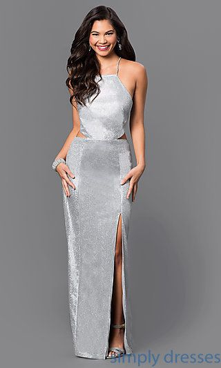 Backless Silver Dress