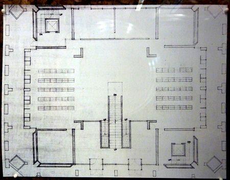 Schematic floor plan - Library @ Phillips Exeter - Louis Khan