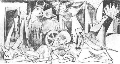 Pablo Picasso, Composition Study, May 9,1937 (Guernica)