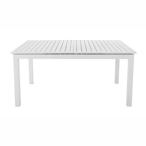 Ausziehbarer Gartentisch Aus Aluminium B 160 Bis 210 Cm Weiss