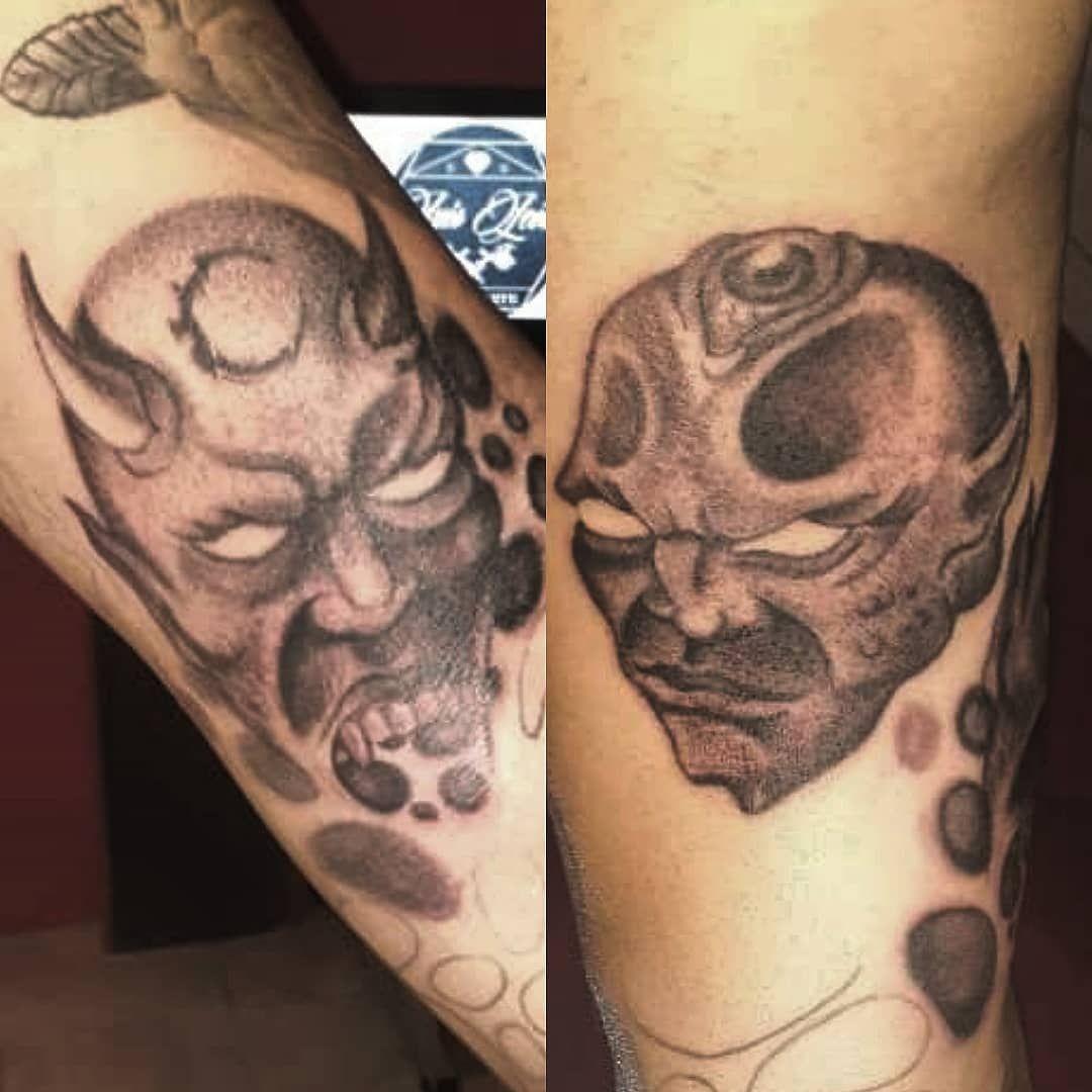 Demon face. #demon #tattoolife #tattoopractice #tattooinstagram #tattoo #tattoos #tattoopeople #tattooink #tattoopasion #tattoostudio #tattooshow #tattooadicct #blackandgrey #ink #inklove #tattoolove #tattoolovers #inkpeople #inkart #inklove #inks