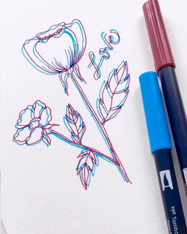 """Photo of Brush Pens 3D Doodle Ideas👉www.paperhouse.me💝Save $3 with code """"PIN3""""💝Paperhouse Stationery"""