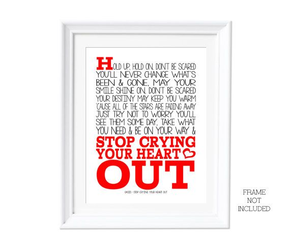 Song Lyric A3 Oasis Live Forever ( Print Only ) Music Lover Art ...