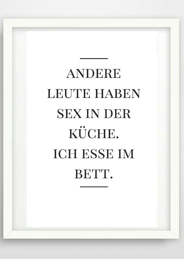 Typo Poster Essen Wohndeko Artprint Black And White Wall
