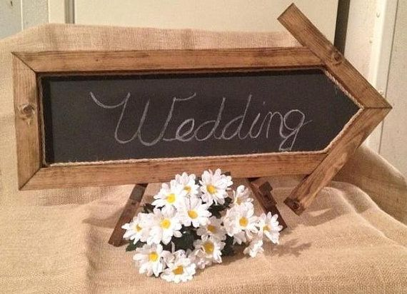 Arrow Chalkboard with Easel by Used2BNewCreations on Etsy, $39.99