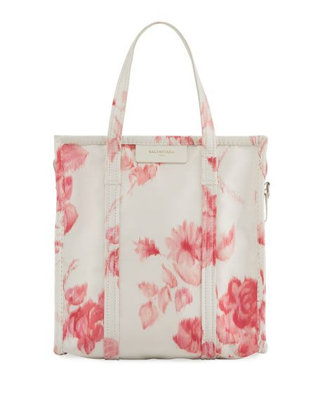 9edb2d1c9dc3 BALENCIAGA Bazar Shopper Small Aj Floral-Print Tote Bag